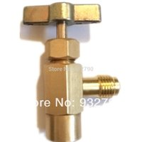 Wholesale R a AC Refrigerant Can Bottle Tap Opener Valve Tool Adapter Bottle Connecting Thread ACME External Thread SAE order lt no track