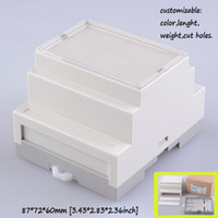 abs plastic enclosures - Two Style Din rail plastic electronics project box abs plastic circuit housing junction box custom diy enclosure mm