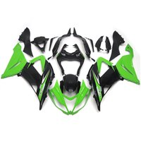 Wholesale Injection Fairings For Kawasaki Ninja ZX R ZX6R Sportbike ABS Motorcycle Fairing Kit Body Kits Green Black Fittings New