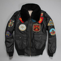 air force leather flight jacket - Fall Factory Genuine Leather Jacket Men Real Cowhide Men s Motorcycle Biker Air Force Flight Pilot Bomber Coat Plus Size Winter ZH142