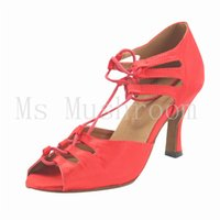 Wholesale Salsa Shoes Customize Professioal Latin Dance Shoes In Stock Colors Leather Women Dance Shoes