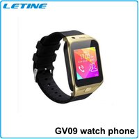 Wholesale 2015 GV09 Smart Watch Phone MTK6260 Wireless Bluetooth Sync SIM TF Pedometer S28 Smartwatch Wristwatch For Samsung Android Phone