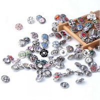 Wholesale New cute mm mix style Alloy Chunks Snap Button charm for noosa lampwork Charm Button