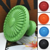 Wholesale Colorful Flower Ceramic Knob Door Cabinet Cupboard Drawer Handle Home Accessories X60 JJ1039W