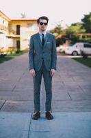 Cheap Blue Wedding Suits For Men groom Wedding Suit frim fit Tuxedos suit Two Buttons groom Wedding Suit Jacket+Pant+Tie