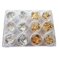 acrylic flakes - NEW Foil Flake Nail ART Accessories FOR Acrylic Nail UV GEL Tips Decoration H5