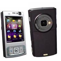 Wholesale 1pcs silver with black red purple Original mobile phone GMS N95 WIFI GPS MP Screen WIFI G Unlocked N95 Mobile Phone FREE SH