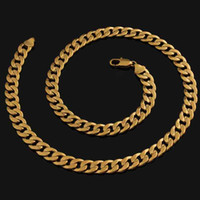 18k gold chain for men - 2mm New Fashion Jewelry K Yellow Gold Filled Necklace Chain For Men Womens Gold Jewellery