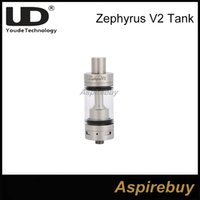 Youde Zephyrus V2 Sub Ohm Tanque Atomizador Por UD Zephyrus V2 RTA Tanque 22mm Diámetro 0.2 0.3 0.5ohm Bobinas Disponible Top Fill 100% Authentic