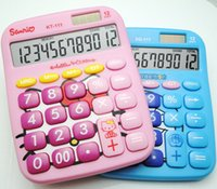 Wholesale Electronic Calculator Solar Power Digits Calculators desktop Calculator LCD display Hello Kitty Calculator or Doraemon Calculator