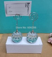 ball place card holders - Hot Sell Choice Crystal Collection Crystal Ball Place Card Holders Event Wedding Supplies