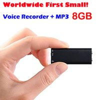 Wholesale Woldwide first smallest in Micro G Digital Audio Voice Recorder Hours Mp3 Thumb up Voice Recorder