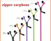 bass wires - Zipper Headset mm Jack Bass Earbud Earphone Stereo in ear Earphones with Mic for iPhone Plus Samsung s7 edge note