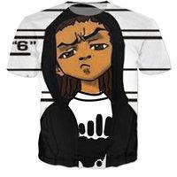 bad boy shirts - New Fashion Cartoon Bad Boy D t shirt tees Comic Boondocks t shirts Women Men Casual Short Sleeve tshirts Harajuku tee shirts