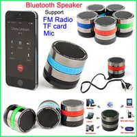 Wholesale Mini Camera Lens Super Bass Universal Bluetooth Speaker Wireless Speakers Handsfree call FM Radio TF Card Music Player For Tablet Phones MP3
