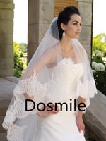 Wholesale Stunning Sequins T Blings velo de novia Lace Edge Purfles Long Two Tiers Cathedral Wedding Veils Bridal Mantilla Free Comb