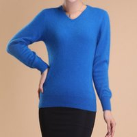 cashmere sweater - Mink Cashmere Sweater of Women s Casual Small V Neck Autumn Winter Style High Quality Mink Cashmere Sweater Exempt Postage X007