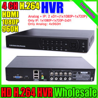 Wholesale 4CH Full H DVR channel Super CCTV Hybrid DVR HVR NVR in Intelligent NVR G WIFI Security System with HDMI P Output
