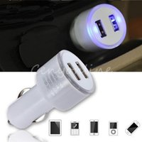 auto under car kit - 2A V LED Dual USB Ports Car Auto Kit Charger Charging Power Adapter For Samsung For iPod For iPhone For HTC GPS MP3 Universal