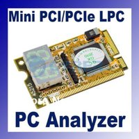 Wholesale 3 in Mini PCI E Expresscard Mini PCI LPC Digit PC Analyzer Tester POST Card dropshipping