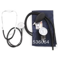 Wholesale Aneroid Sphygmomanometer Blood Pressure Measure Device Kit Cuff Stethoscope