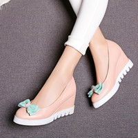 slips - 2016 new bowtie casual shoes for women shoes wedge shoes cute loafer shoes for women tooth outsole shoes girls shoes A2500