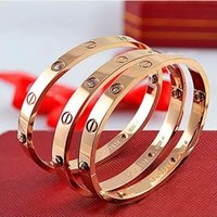 Wholesale Fashion hot silver rose k gold plated L stainless steel screw bangle bracelet with screwdriver