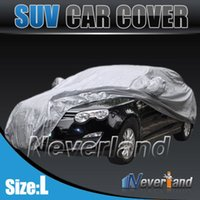 Wholesale 2015 New Outdoor Full Car Cover Waterproof Sun UV Snow Dust Rain Resistant Protection Size L Car covers Gray C10