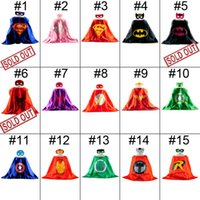 capes - Double Side Batman Superman Cape Mask Reversible Superhero Cape Supergirl Cape Mask Set Party Iems Hot Sale