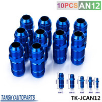 Wholesale Tansky High Quality AN AN12 MALE THREAD STRAIGHT BULKHEAD FLARE BLUE ALUMINUM ANODIZED FITTING JDM TK JCAN12