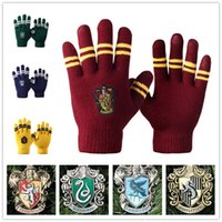 Wholesale Harry Potter gloves School Unisex Knited gloves Cosplay Costume Warm Stripe gloves Christmas gift glove LA157