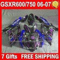 bacardi blue - 7gifts For SUZUKI GSXR750 BACARDI bats GSXR Body L6340 GSXR600 K6 GSX R750 Blue blk GSX R600 R750 Fairings