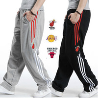 big size men pants - Casual Basketball Sport Pants Mens Plus Size Cotton Hip Hop Three Stripes Sweatpants with Embroidery Logos Big Fat Men XL XL