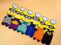 Wholesale New Arrival Men And Women socks High quality cartoon Minions cotton Casual sock CW67