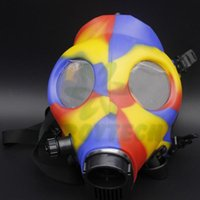 Cheap Gas Mask Water Pipes - Sealed Acrylic Hookah Pipe - Bong - Filter Smoking Pipe Free Shipping
