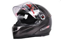 Wholesale Casco capacetes Ls2 ff396 double dual lens carbon fiber helmet motorcycle helmet airbag pump full face helmets