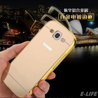 bags aluminum battery - S3 Warrior Aluminum Metal Acrylic Mirror Battery Back Cover Case for samsung Galaxy S3 i9300 Phone bags Plating Surface