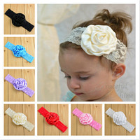 Wholesale Baby Girls Hair Accessories Baby Children Rose Hair Bands Infant Lace Hair Band Girls Headbands Hot Sale Children Hair Bands Color