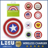 iphone charger - galaxy S6 s6edge Captain Americ Qi Wireless Charger Pad Transmitter Fast Wireless Charger Plate For wireles Charging Receiver Android iphone