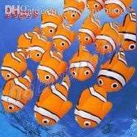 Wholesale x Cute Baby Bath Toys Rubber Race Clown Fish new