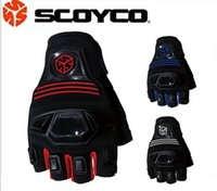 Wholesale Motorcycle Glove Half Finger Racing Gloves Summer Moto Guantes Accessories Scoyco MC24D