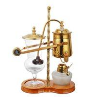 automatic balancing machine - Elegant atmosphere Royal Fashion Belgium balancing Vacuumsiphon coffee maker Gold coffee maker machine