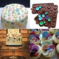 Wholesale Cake Cookie Fondant Chocolate Silicone Gel Mold Mould Baking Tray Button Shape chocolat Cake Decoration Mould