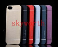 Wholesale Luxury Motomo Brushed Brush Aluminium Metal Slate Hard Back Case Cover For iphone Plus iphone S S Samsung Galaxy S4 S5