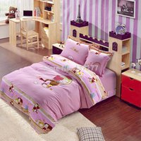 baby girl bedroom sets - New arrival baby girl embroidered cotton bedding bedroom set for queen full twin size comforter bed sets pc