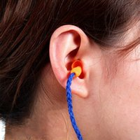 Wholesale Nice Silicone Blue Ear Plugs Protection Ear Cord Corded Reusable Hearing New