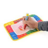 Unisex baby safe paint - 29X19cm Drawing Painting Writing Mat Board with Magic Pen Doodle creative Toy Baby Safe Indoor Gift