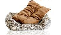 cat litter - Pet beds small dog kennel brown leopard kennel cat litter