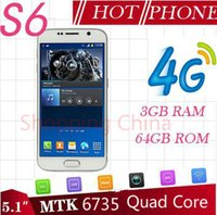Wholesale 5 Inch S6 G920F Quad Core MTK6735 GB GB GHz Android Smartphone MP G LTE T Mobile Logo Boot