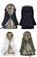 Gros-épais Faux Capuches de fourrure de la fourrure doublure femmes hiver chaud longtemps fourrure à l'intérieur des vêtements veste manteau de coton parkas thermiques Livraison gratuite
